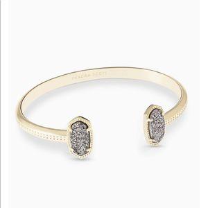 Kendra Scott Elton Gold Bracelet In Platinum Drusy